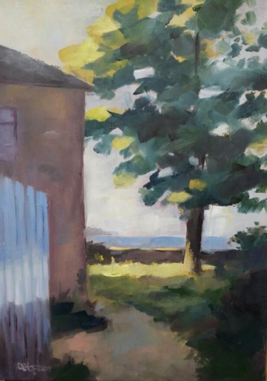 Une maison dans le Morbihan - 33x24 cm